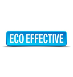 Eco effective blue 3d realistic square isolated vector