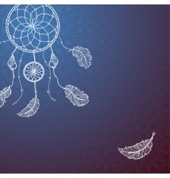 Indian-American dream catcher vector image