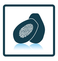 Icon of papaya vector