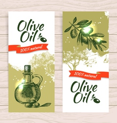 Banner set of vintage olive splash backgrounds vector image