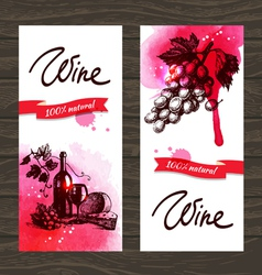 Banners of wine vintage background vector