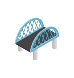 Bridge with arched railings icon vector image vector image