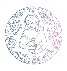 Concept of motherhood vector