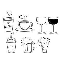 Different kinds of drinks vector image vector image
