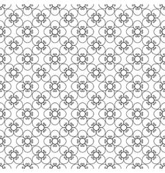 Floral black vintage pattern vector image vector image