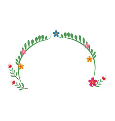 Flower decoration celebration festive party vector