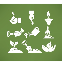 Gardening symbols vector