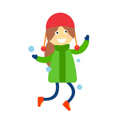 girl portrait fun happy young expression cute vector image vector image