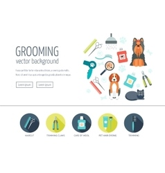 Grooming web design concept for website and vector