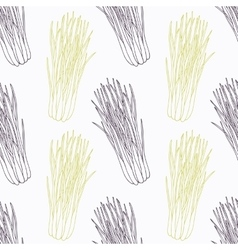 Hand drawn lemongrass branch wirh flowers stylized vector image vector image