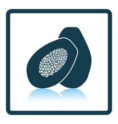 Icon of papaya vector