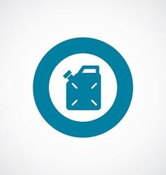 Jerrycan icon bold blue circle border vector