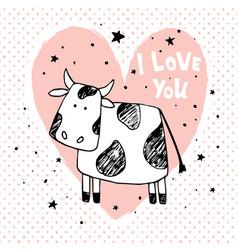 Love cow vector