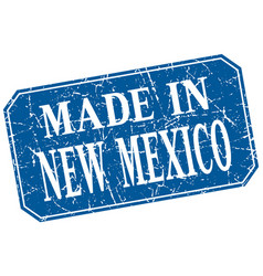 Made in new mexico blue square grunge stamp vector