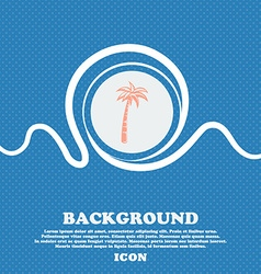 Palm sign Blue and white abstract background vector image