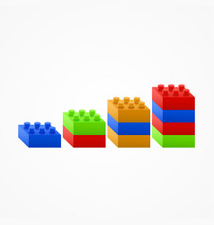 Plastic building blocks chart vector