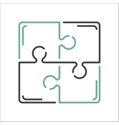 Puzzle blank template or cutting guidelines vector