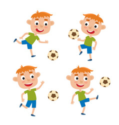 red-haired little boys in vector image