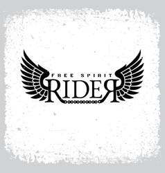 Rider free spirit vector