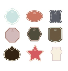 Set of frames and labels vector image vector image