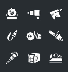 Set of work tool icons vector