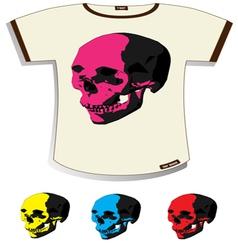 skull T-shirt vector image vector image