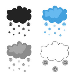snowfall icon in cartoon style isolated on white vector image vector image