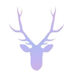 Striped head of deer in vector image vector image