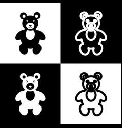 Teddy bear sign black and vector