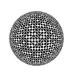 Sphere collected from many elements vector
