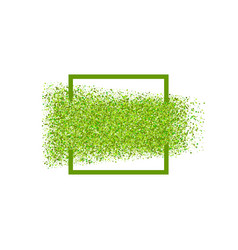 astract green dots particles frame vector image