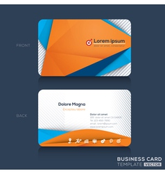 Business cards Design Template vector image
