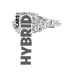 Why isnt there a hybrid pickup text word cloud vector