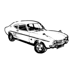 vintage sports car vector image