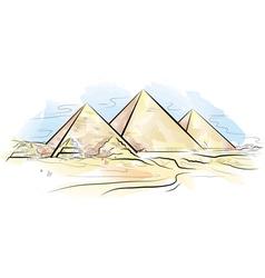 Egypt piramids of giza vector
