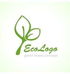 Icon green ecology leaf vector
