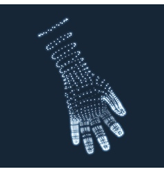 Human arm human hand model hand scanning vector