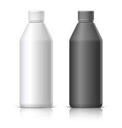 Big plastic bottle vector image