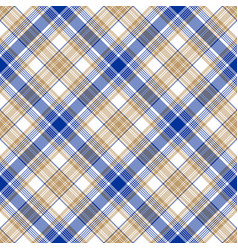 Blue gold tartan seamless pattern vector