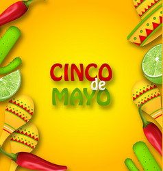 Cinco de mayo background with mexican traditional vector