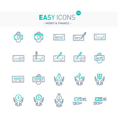 easy icons 13e money vector image vector image