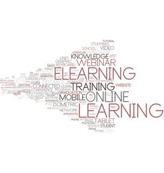 Elearning word cloud concept vector