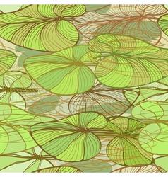 Ffloral pattern with lotus leaves vector image