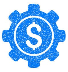Financial options grunge icon vector