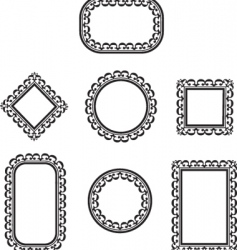 floral filigree frames vector image vector image