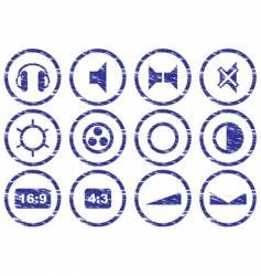 Gadget icons vector