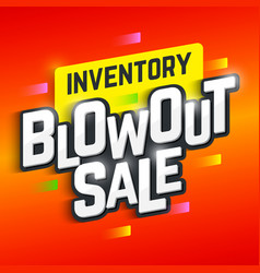 Inventory blowout sale banner special offer big vector