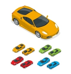 Isometric Yellow sports car vector image vector image