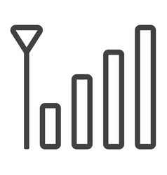 mobile phone signal line icon web and mobile vector image