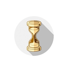 Old-fashioned simple 3d hourglass time management vector image vector image
